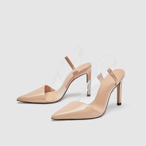 Zara vinyl asymmetric pumps